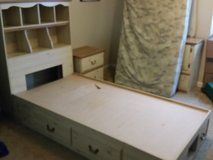 Kid's bed, night stand, and dresser with mirror in Fort Rucker, Alabama