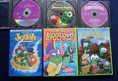 Set of 6 Veggie Tales DVD's in Kingwood, Texas