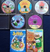 7 Veggie Tales DVD's in Kingwood, Texas
