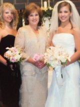 Mother of bride dress/shoes to match in Fort Rucker, Alabama