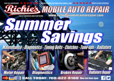 **RICHIE'S MOBILE AUTO REPAIR FULLY LICENSED AND CERTIFIED in Vista, California