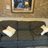 Couch - green tapestry in Yorkville, Illinois