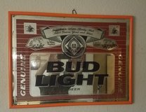 Bud light mirror in Fort Leonard Wood, Missouri
