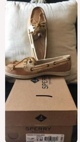 Brown leather Sperrys boat shoes in Clarksville, Tennessee