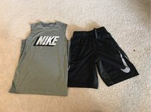 Boys Nike shorts and sleeveless T-shirt M in Plainfield, Illinois