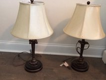 Pr. Of Quoizel bronze table lamps in Beaufort, South Carolina