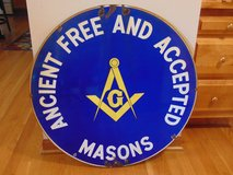 Old Masonic Sign in Yorkville, Illinois