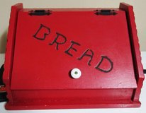 Large Red Hand-painted Bread Box in Warner Robins, Georgia