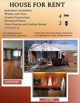 Single Family House for Rent near Walter Reed- Bethesda in Bolling AFB, DC