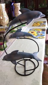 Dolphins on metal stand in Byron, Georgia