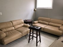 Leather Couch+Love Seat+Lamp+End Table in Westmont, Illinois