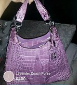Lavender Coach Purse in 29 Palms, California