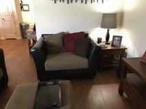 Sectional with Oversized Chair and Ottoman in Elizabethtown, Kentucky