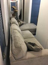 Grey microfiber couch in Travis AFB, California