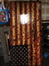Wooden 1896 flag 72 x 35 1/2 pick up only on base in Camp Pendleton, California