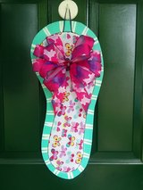 Butterfly Flip Flop Door Hanger/Wreath in Naperville, Illinois