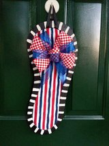 Patriotic Flip Flop Door Hanger/Wreath in Naperville, Illinois