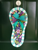 Blue Floral Flip Flop Door Hanger/Wreath in Naperville, Illinois