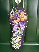 Black Floral Flip Flop Door Hanger/Wreath in Naperville, Illinois