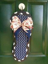 Anchor Flip Flop Door Hanger/Wreath in Naperville, Illinois