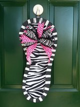 Zebra Flip Flop Door Hanger/Wreath #2 in Naperville, Illinois