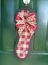 Country Patriotic Flip Flop Door Hanger/Wreath in Naperville, Illinois
