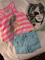 girls Justice tops and pair of shorts size 7 in Lockport, Illinois