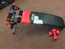 Workout Bench w/2 3.3lbs dumbbells in Ramstein, Germany