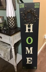 Cozy Home entryway sign w/pip wreath in Morris, Illinois