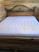 King Bed Frame + Mattress and Box Spring (sold as set) in Colorado Springs, Colorado