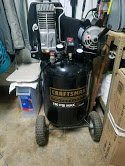 """REDUCED""Craftsman 27gal. Oil Lubricated Vertical Air Compressor in Oswego, Illinois"