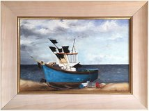 Fishing Boat, Lowestoft (1994) by Alannah Wilkins (Original Acrylic Painting) in Cambridge, UK
