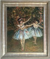 Ballet Dancers (1981) by Michelle Ansor (Original Oil Painting) in Tunbridge Wells, UK