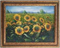 Sunflowers (1987) by Charles Benoit (Original Oil Painting) in Tunbridge Wells, UK