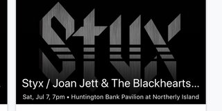 2 tickets to Styx/Joan Jett/Tesla in Bolingbrook, Illinois