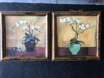Set of 2 orchid paintings in Savannah, Georgia