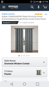 Blackout grey curtains in Fort Lee, Virginia