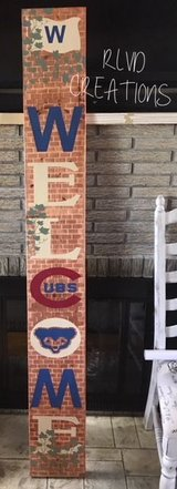 CHICAGO CUBS BRICKS AND IVY WELCOME SIGN in Naperville, Illinois