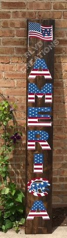 CHICAGO CUBS AMERICA WELCOME SIGN *ALL HAND PAINTED* in Naperville, Illinois