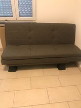 FREE!!!! Slate Gray Futon for Cheap w/Risers in Wiesbaden, GE