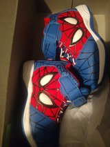 Brand new in box Spiderman gym shoes 7 in Aurora, Illinois