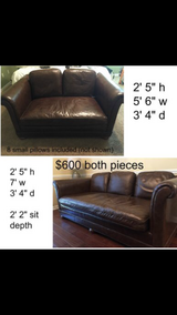 Awesome deal! Great looking comfortable leather couches. in Fort Rucker, Alabama