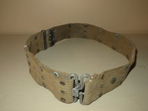 WWII M-1936 Pistol Belt Web Gear Early OD Khaki Color - Used Good Condition in Joliet, Illinois