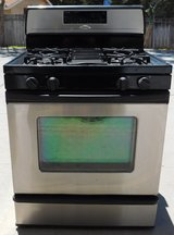 STOVE- WHIRLPOOL GOLD GAS- BLACK/STAINLESS in Oceanside, California
