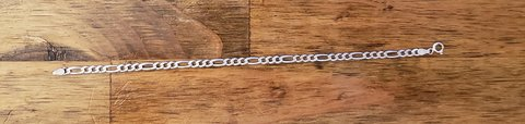 REDUCED Sterling silver Figaro bracelet in 29 Palms, California