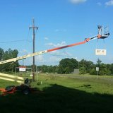 50' Man Lift Rental with automatic Leveling System in Fort Polk, Louisiana