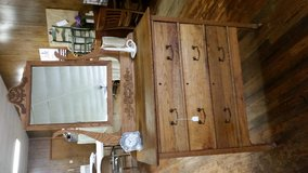 Antique oak dresser with mirror in Lake of the Ozarks, Missouri