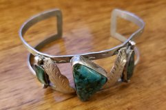 REDUCED Turquoise cuff bracelet feathers in 29 Palms, California