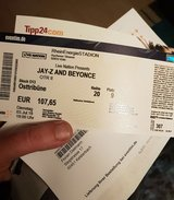 Jay Z & Beyoncé ticket in Koln 3 July 2018 in Wiesbaden, GE