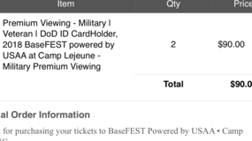 baseFEST Premium tickets (military ID required) in Camp Lejeune, North Carolina